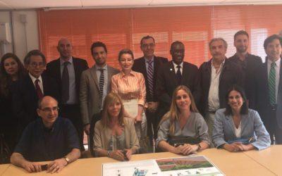 Visita del Servicio de Cooperación del V Foro PYMES a Unical